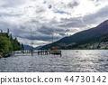 boat, clouds, lake 44730142