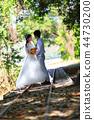 열대 선로에서 사랑을 이야기를주고받는 커플 44730200