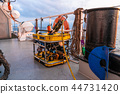 Remote operated vehicle mini ROV on deck of offshore vessel 44731420