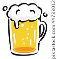 啤酒手繪風格的插圖 44733012