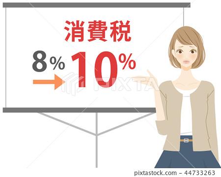 消費稅赤字婦女例證 44733263