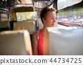 woman, bus, passenger 44734725
