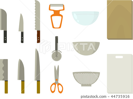 廚房用具(廚房,砧板,碗) 44735916