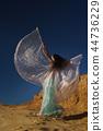 Oriental beauty dance with wings 44736229