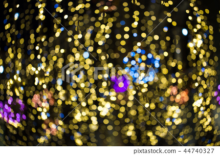 Naughty golden bokeh with blur. For a postcard 44740327