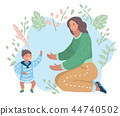 baby, mother, son 44740502
