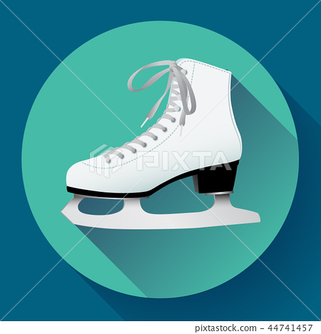 white classic ice figure skates icon vector. Sport equipment. Side view 44741457