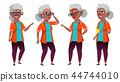 elderly, vector, senior 44744010
