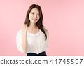 一個擺出腸道的女人 44745597