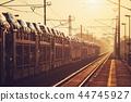 Freight train at sunrise 44745927