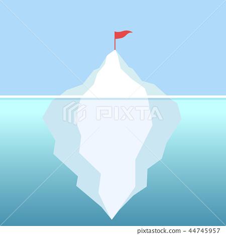Flag on the Iceberg goal achievement 44745957
