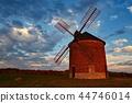windmills, windmill, sunset 44746014