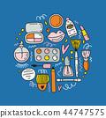 cosmetics cute doodle 44747575