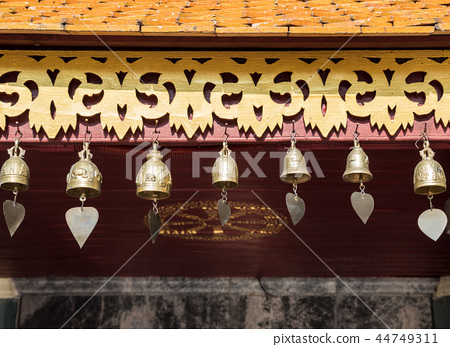 Group of the traditional Thai bell. 44749311