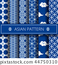 asian blue design 44750310