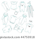 baby, vector, clothing 44750918