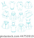 baby, vector, clothing 44750919