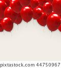 气球 汽球 红色 44750967
