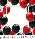 balloon black red 44750972