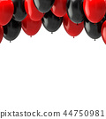 balloon black red 44750981