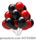balloon black red 44750989
