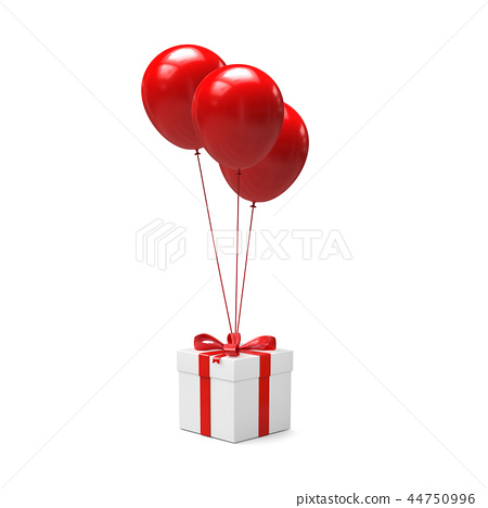 Balloons with gift box 44750996