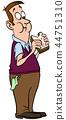 man eating sandwich 44751310