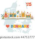 denmark map flag 44753777