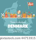 denmark map flag 44753915