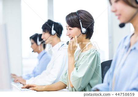 운영자, 콜센터, 정장, 직원 44758659