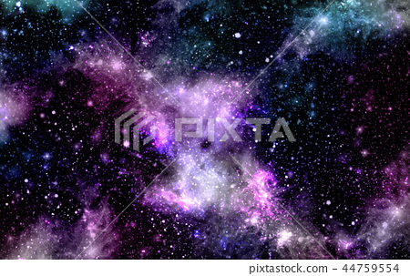 A space of the galaxy ,atmosphere with stars. 44759554