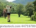 高尔夫 高尔夫球手 女人 44759789