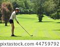 高尔夫 高尔夫球手 女人 44759792