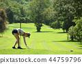 高尔夫 高尔夫球手 女人 44759796