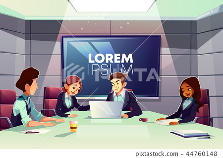 Business team meeting in conference room vector 44760148