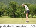 高尔夫 高尔夫球手 女人 44760226