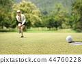 高尔夫 高尔夫球手 女人 44760228
