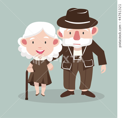 Elderly couple people vector 44761321