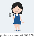 little girl with megaphone 44761376