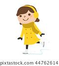 享受滑冰的一個少婦的例證 44762614