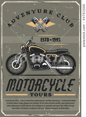 Motorcycle tours, adventure club, vector 44763886