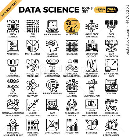 Data Science Icons 44765201