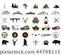 adventure, mountain, symbol 44768115