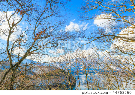 Beautiful  view of Japan autumn  in winter    44768560