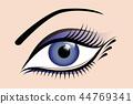 beautiful, eye, blue 44769341