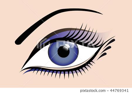 beautiful blue womens eye 44769341
