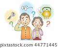 의료 일러스트 : 치매 / 노인 부부 44771445