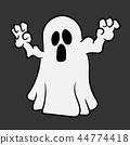 Crazy Halloween ghost 44774418