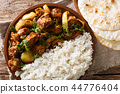 Spicy Indian chicken Do Pyaaza with onions 44776404