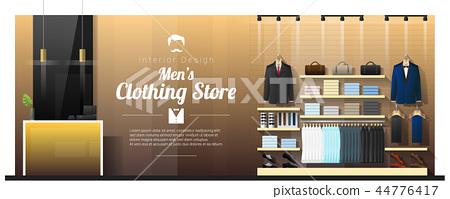 Interior background of luxury men clothing store 44776417